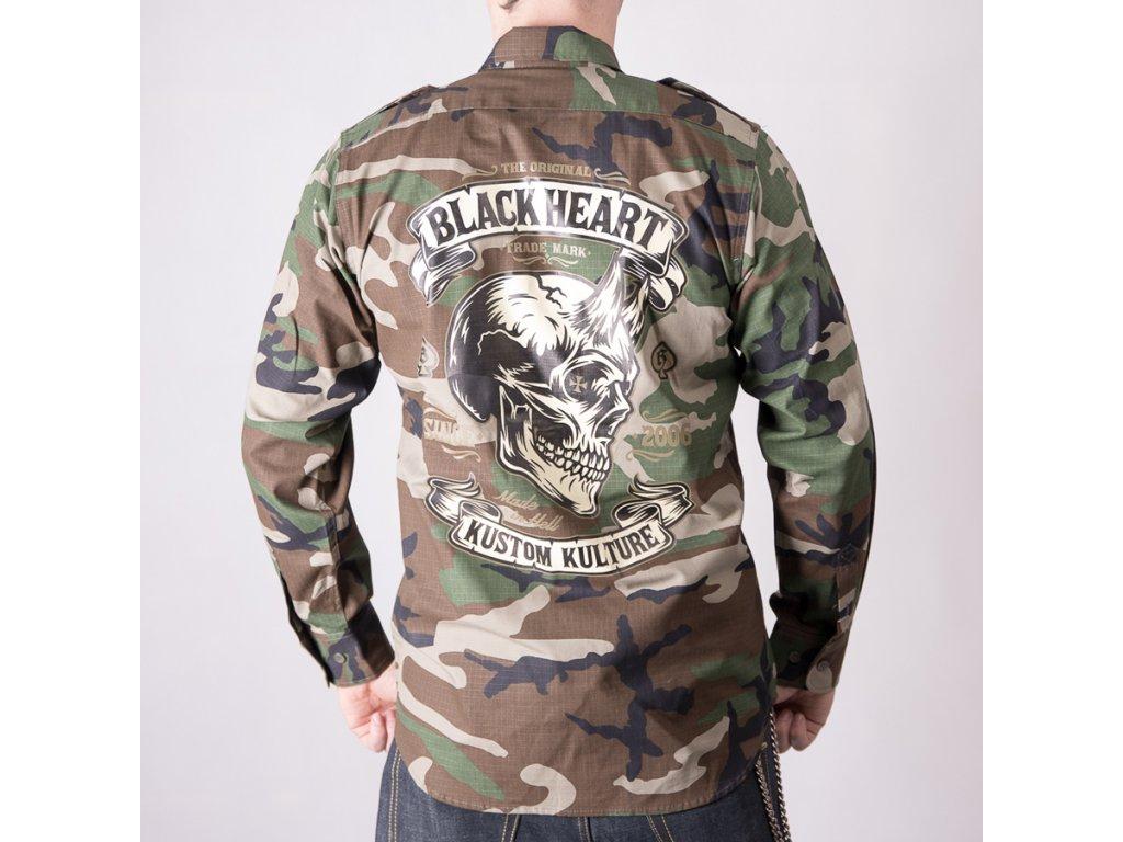 košile black heart devil skull 1