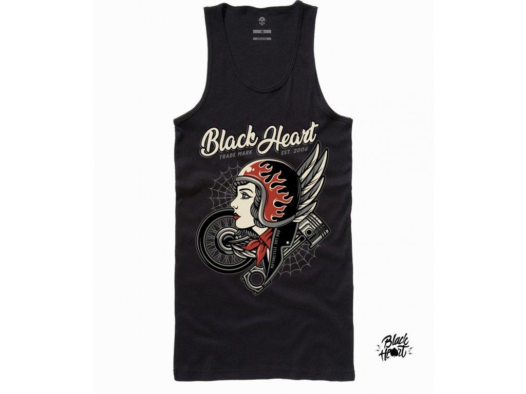 DÁMSKÉ TÍLKO BLACK HEART MOTORCYCLE
