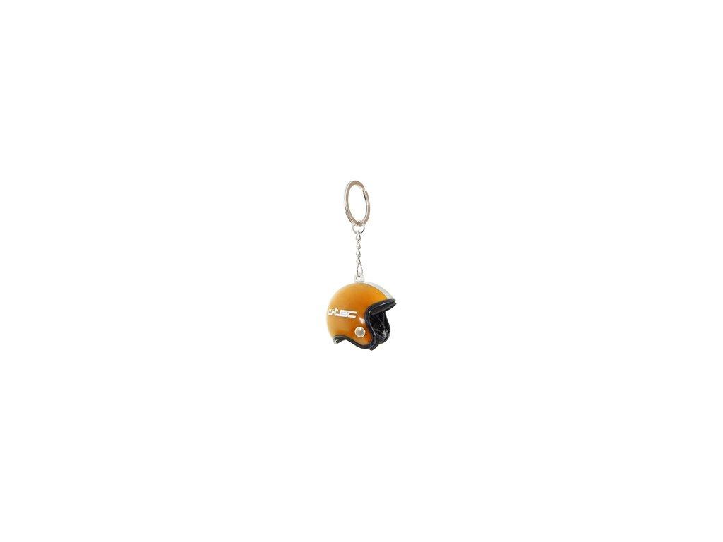 Klíčenka ve tvaru přilby W-TEC Clauer - oranžová