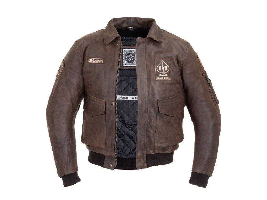 Pánská kožená bunda W TEC Black Heart Bomber (7)