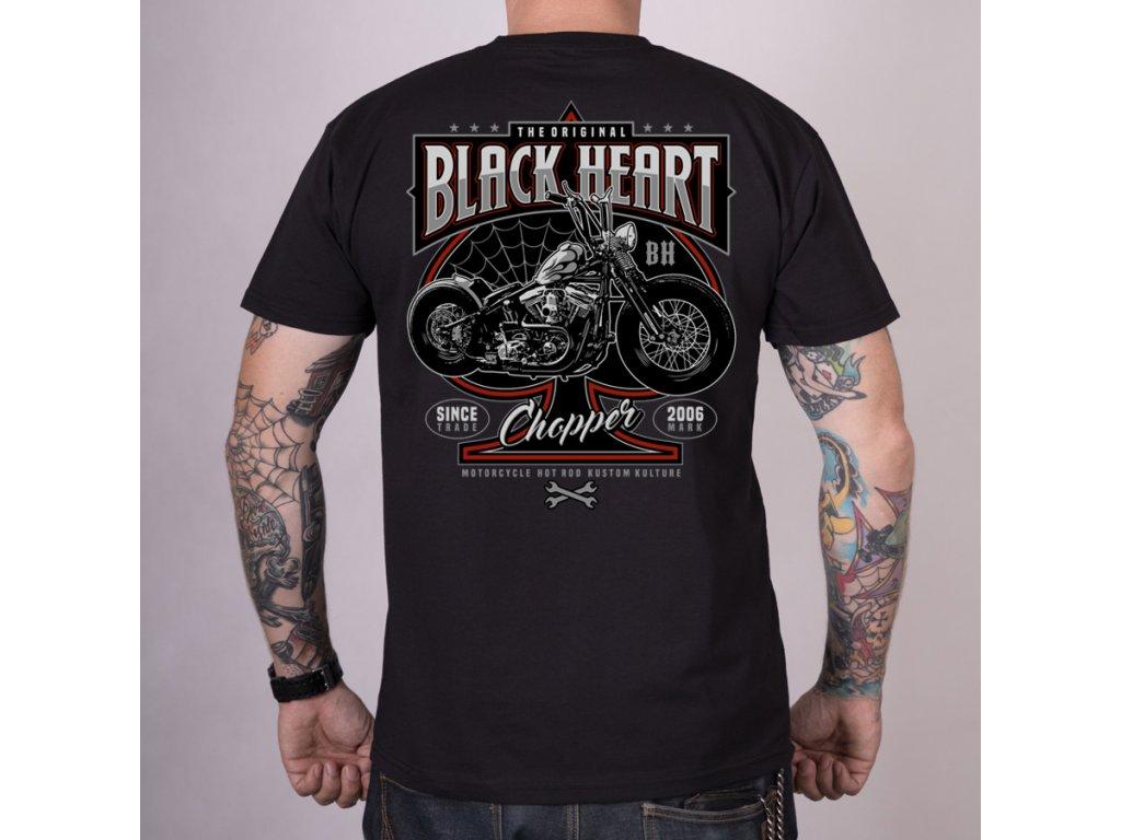 Triko black heart  flock chop