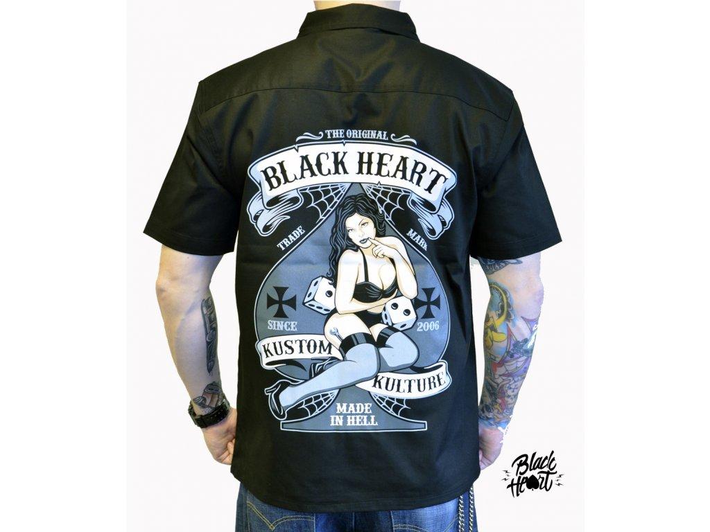 košile black heart hot rod bell