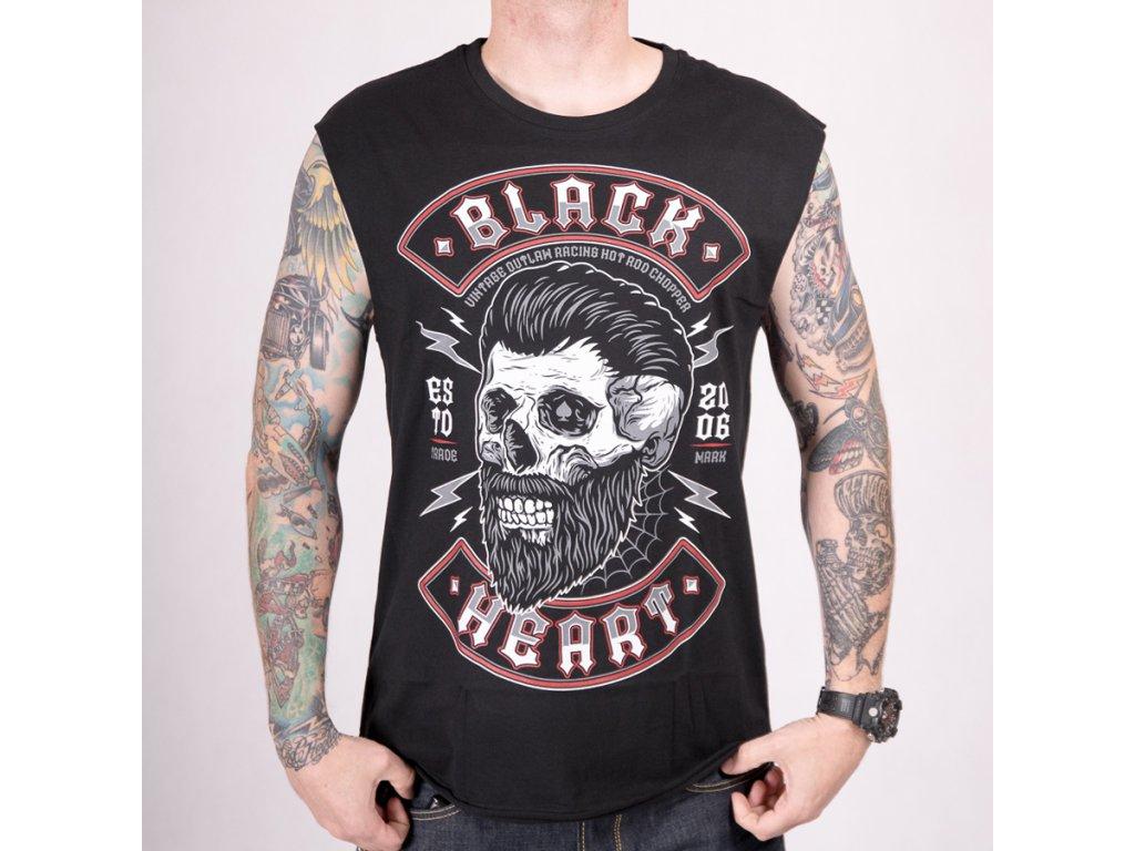TRIKO BLACK HEART BEARD SKULL