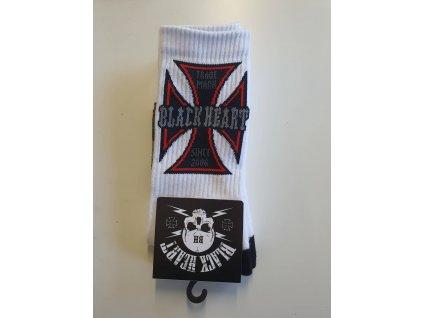 Ponožky BLACK HEART CHOPPER CROSS
