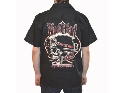 BLACK HEART CHOPPER BASTARD WORK SHIRT