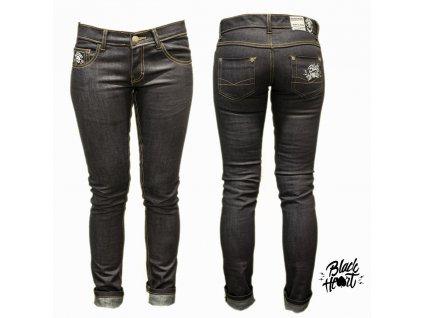 Dámské Jeans BLACK HEART HOT ROD