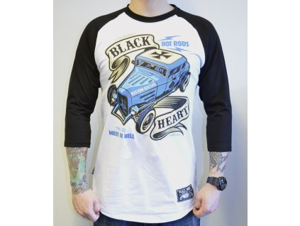 Pánský Raglan BLACK HEART HOT ROD BRUISE