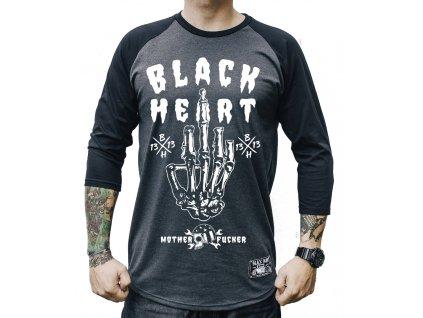 Pánské triko black heart fucker