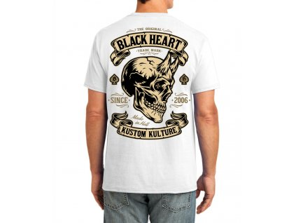 pánské triko black heart devil skull