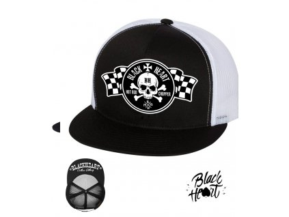 kšiltovka black heart hot rod chopper clothing