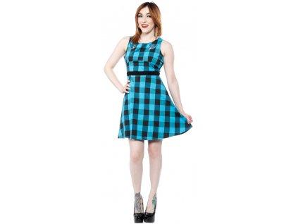 Dámské retro rockabilly pin up šaty 1