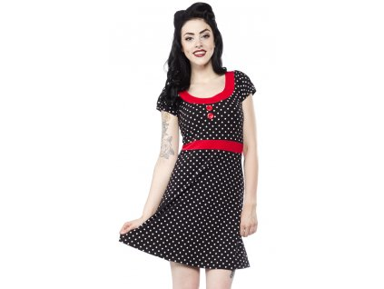 Dámské retro rockabilly pin up šaty 4