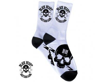 Ponožky BLACK HEART BASTARD SKULL