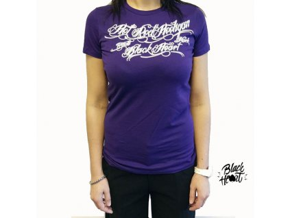 Dámské Triko BLACK HEART HOT ROD HOOLIGAN PURPLE