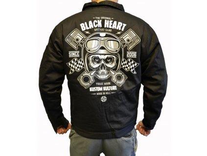 Pánská Bunda BLACK HEART PISTON SKULL