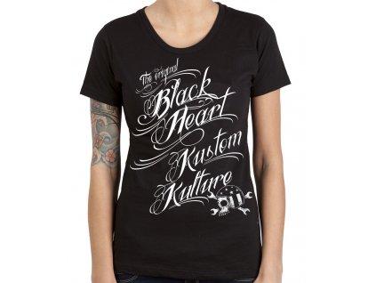 Dámské Triko BLACK HEART KUSTOM KULTURE
