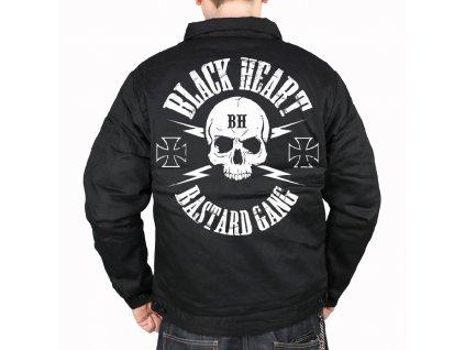 pánská bunda black heart bastard skull 12