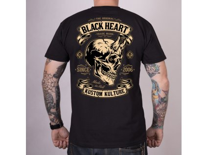 Triko black heart hot rod devil skull 2