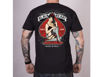 Triko black heart miss pin up