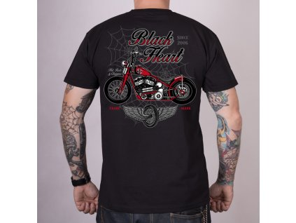 Triko black heart red baron chopper 2