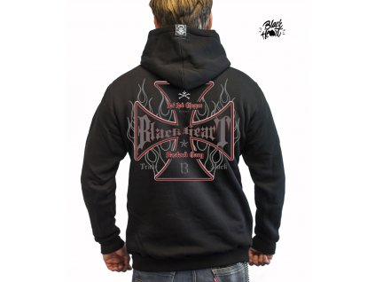 Pánská Mikina BLACK HEART HOT ROD CROSS ZIP