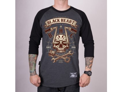 TRIKO BLACK HEART CHOPPER SKULL
