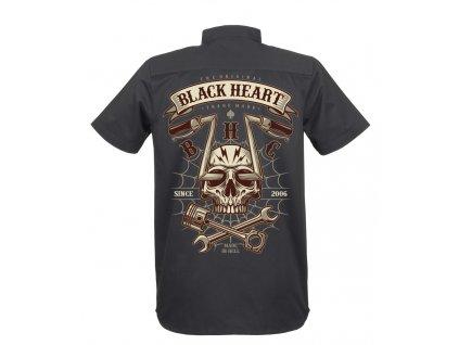 pánská KOŠILE BLACK HEART CHOPPER SKULL 3