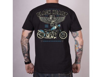 Triko BLACK HEART BLUE CHOPPER2