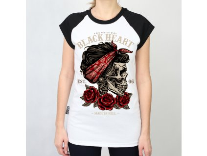 BLACK HEART PIN UP SKULL3