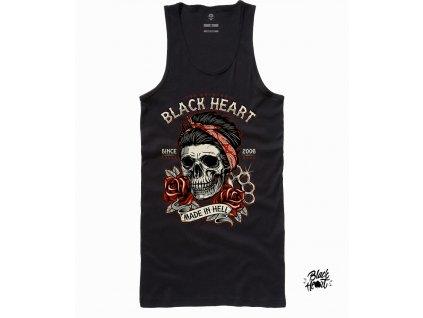 dámské tílko black heart jeny skull