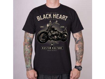 PÁNSKÉ TRIKO BLACK HEART MOTORCYCLE