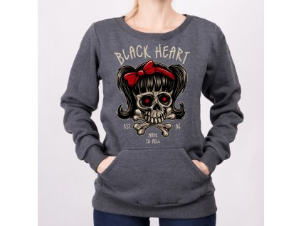 Mikina black heart sandy