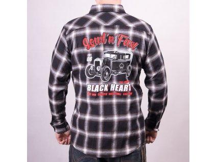 pánská košile hot rod black heart