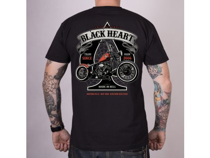 Triko black heart orange chopper 2