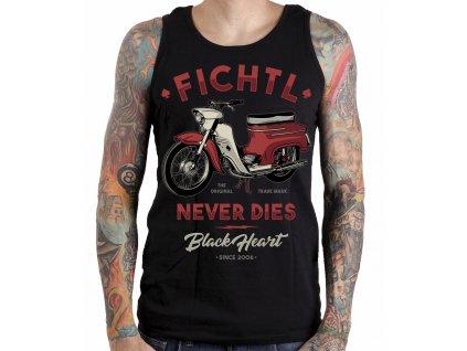 motorkářské tílko fichtl black heart