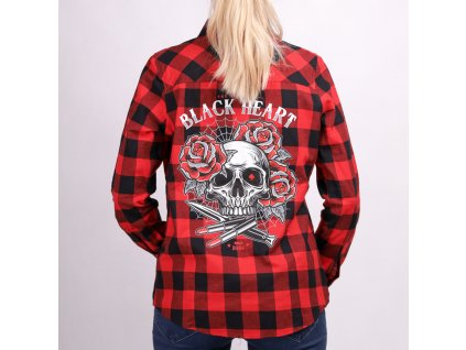 Triko BLACK HEART DESTROY LIPSTICK SKULL košile
