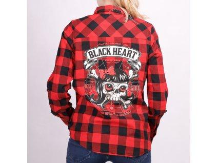 košile BLACK HEART lady luck 1