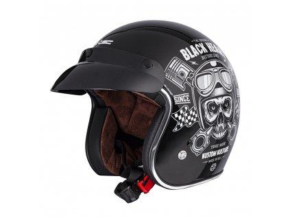 Moto přilba W-TEC V541 Black Heart Piston Skull