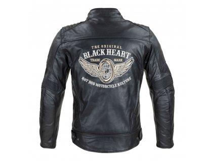 Pánská kožená bunda W TEC Black Heart Wings Leather Jacket (2)