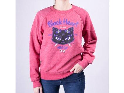 Mikina WILD CAT BLACK HEART