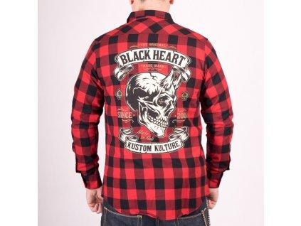 Košile black heart devil skull