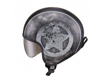 Moto přilba W TEC Angeric Grey Star