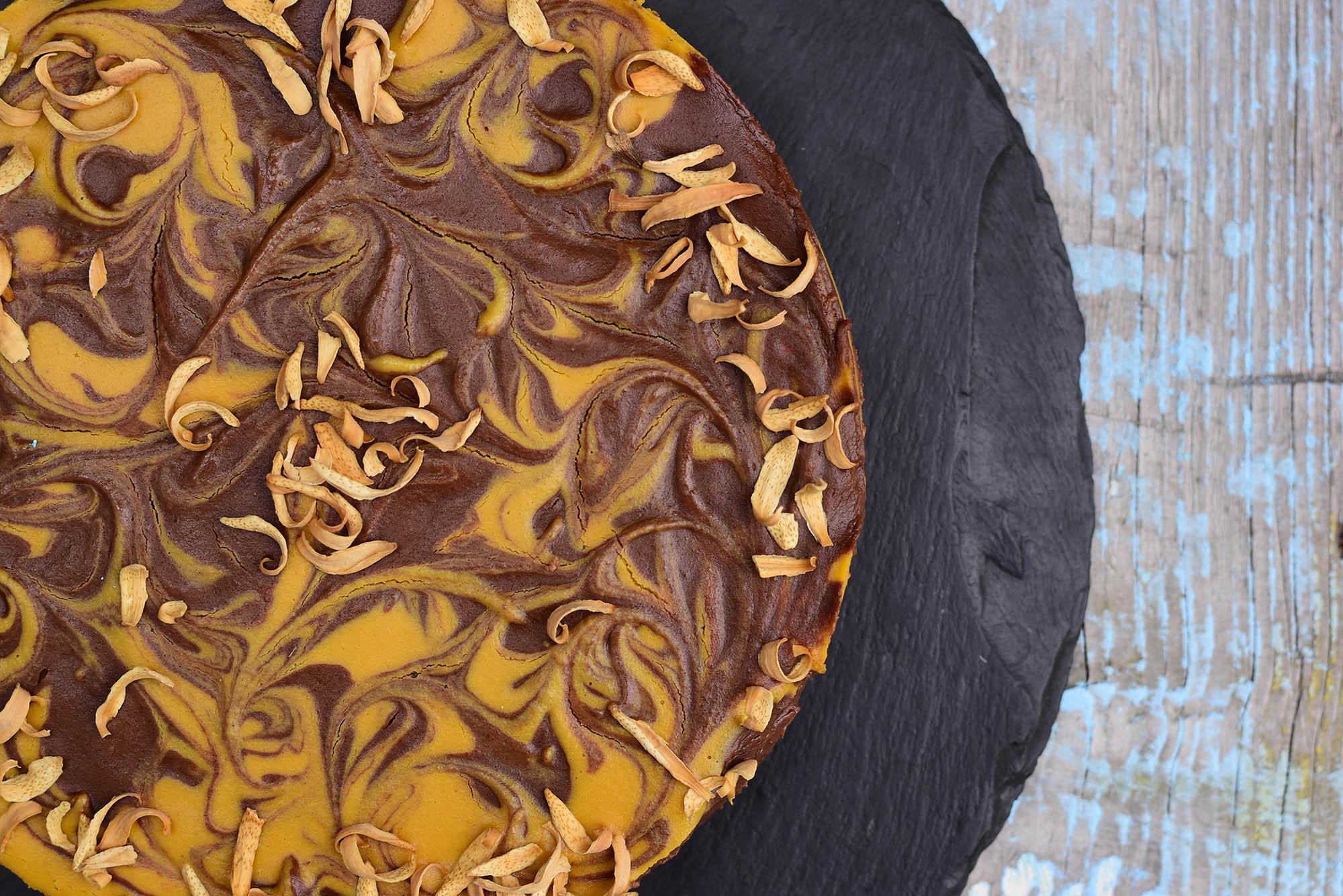čokomramorový raw vegan dort Ostrava