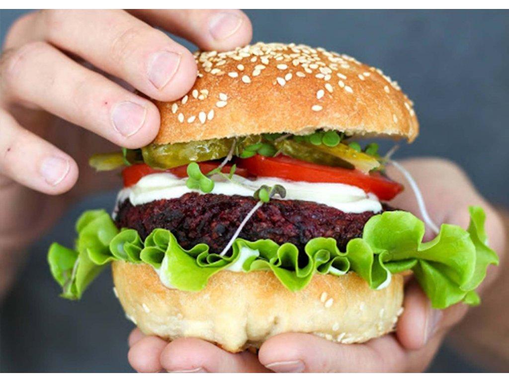 Mini Burgery v čerstvě napečené housce Black Kale produkt