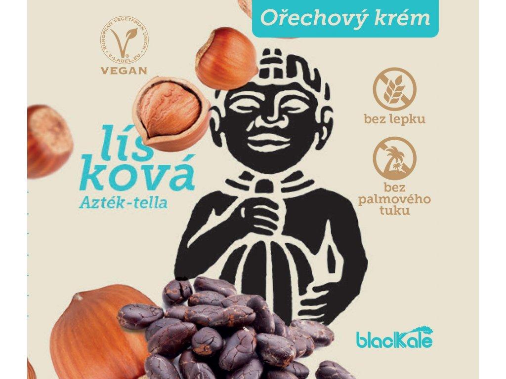 lískooříškový krém hořká čokoláda Aztecman Ostrava