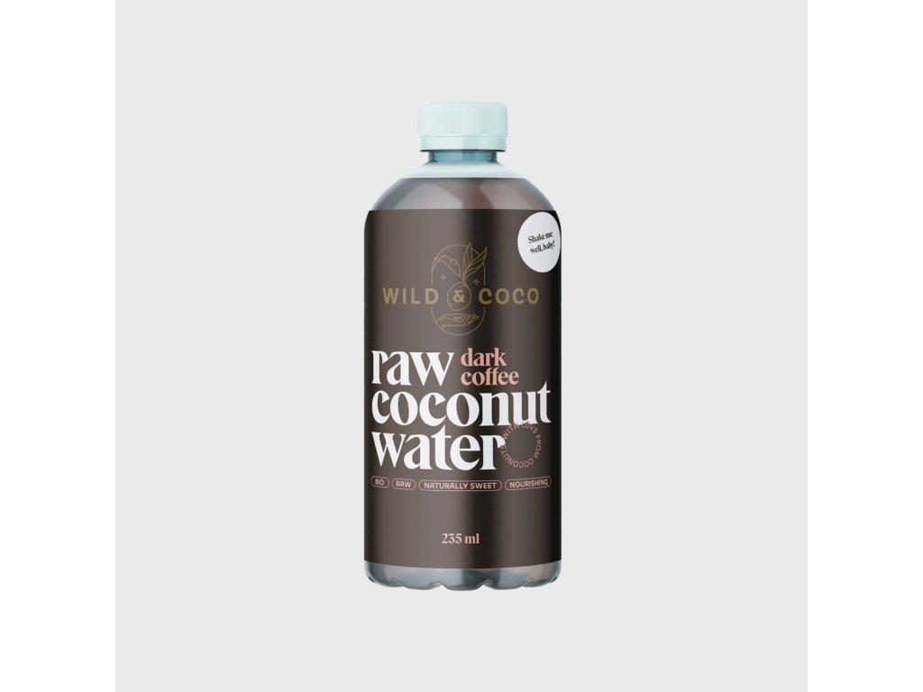 Raw kokosová voda s cold brew kávou