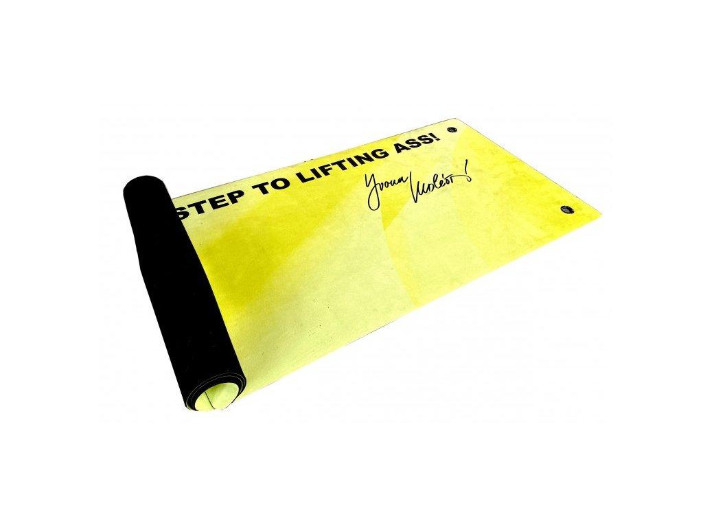 premium žlutá joga podložka