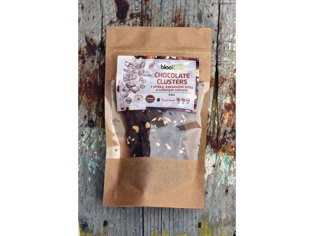 Chocolate clusters raw lámaná čokoláda