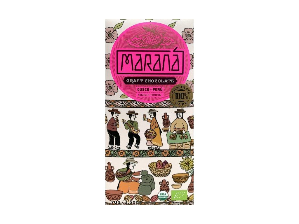 BIO čokoláda Maraná hořká 100 % Cusco - Peru 70 g