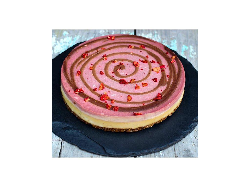 jahodovy cheesecake raw dort